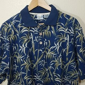 Men's Hawaiian style golf polo shirt.